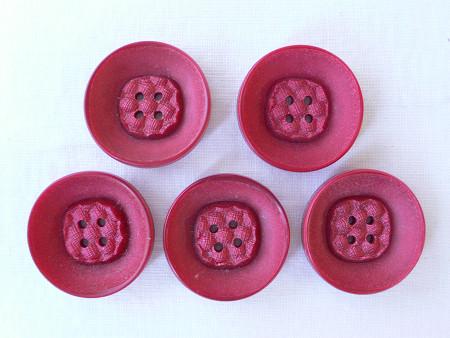 赤のプラスティックボタン gs-225